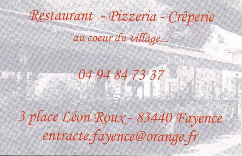 Restaurant L'entracte, Fayence