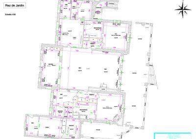 Plan d'intérieur d'un bâtiment, Alpes-Maritimes