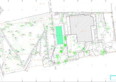 Plan altimétrique et topographique d'une propriété